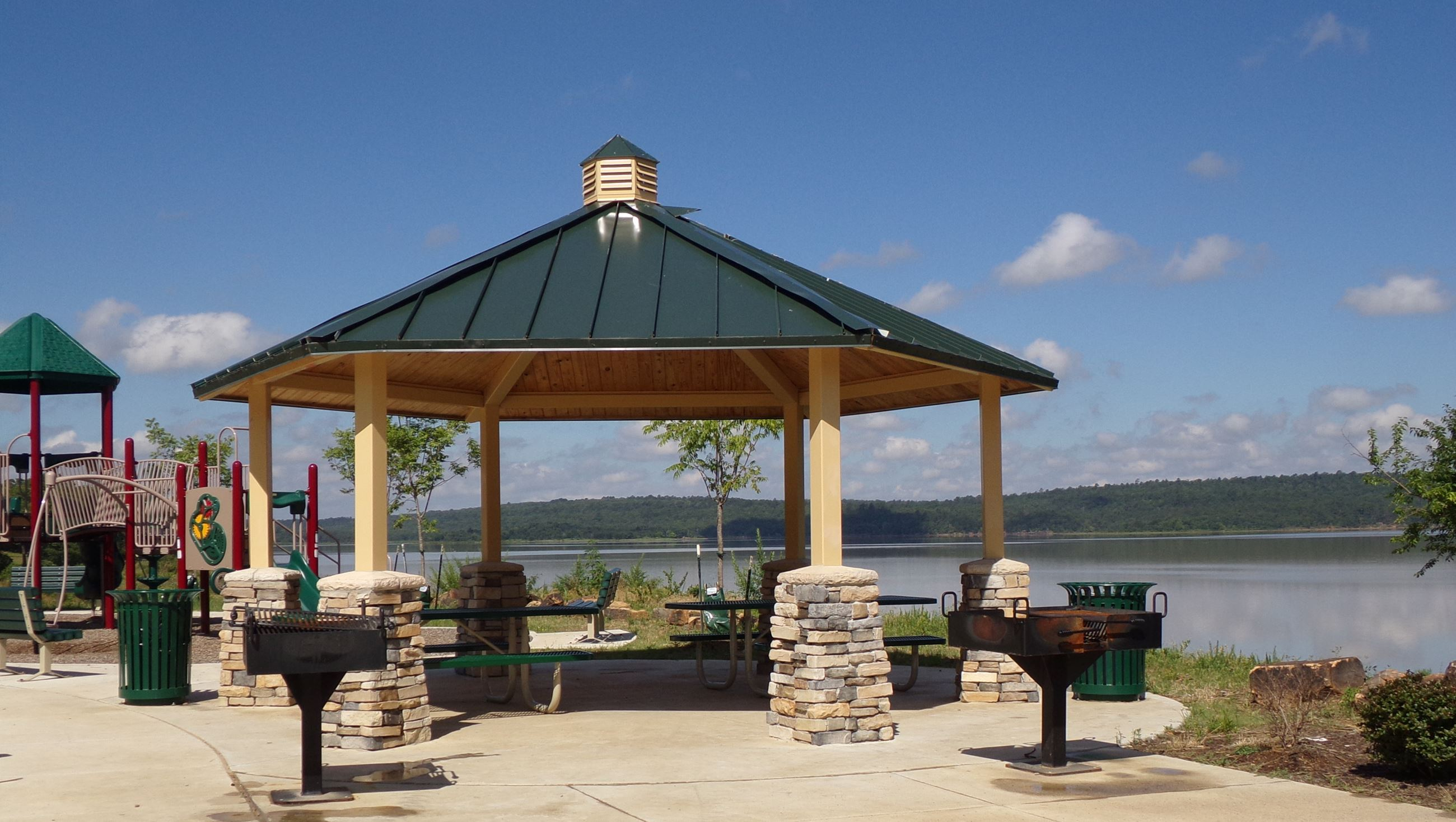 Pavilion at Atoka Lake