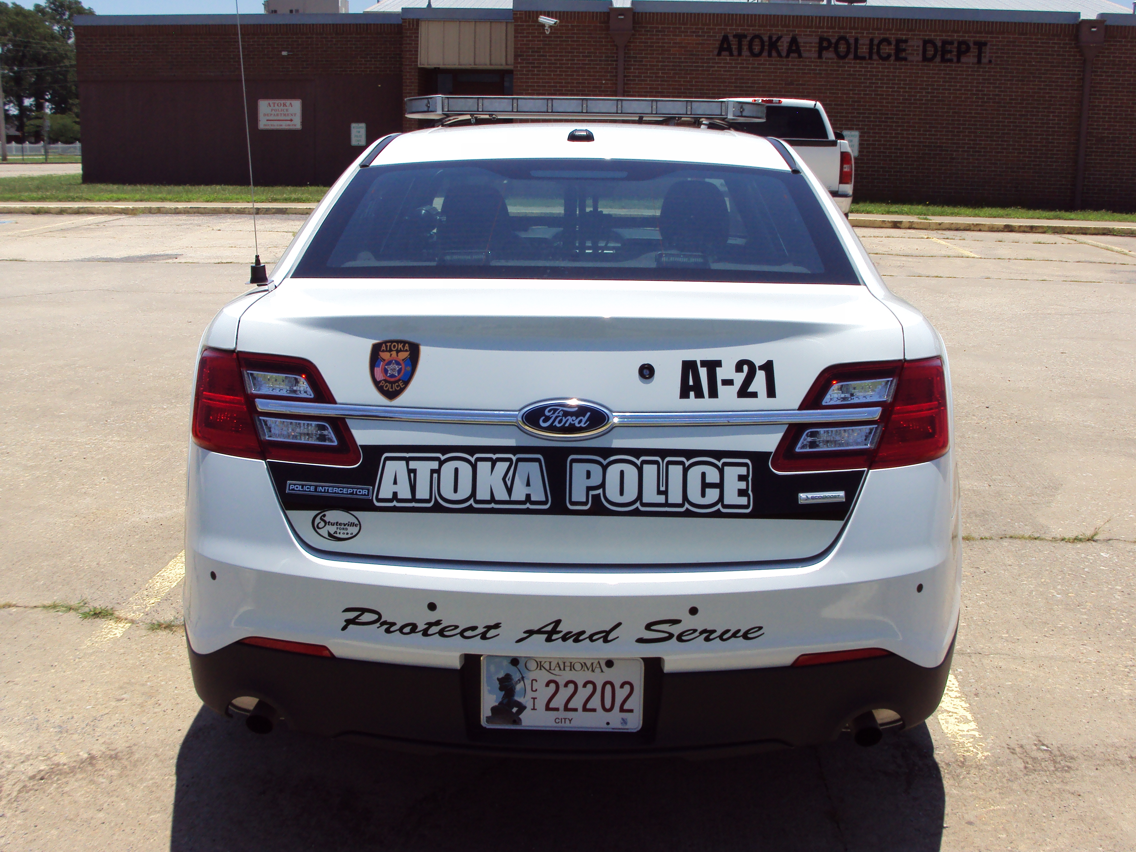 Police Car back view