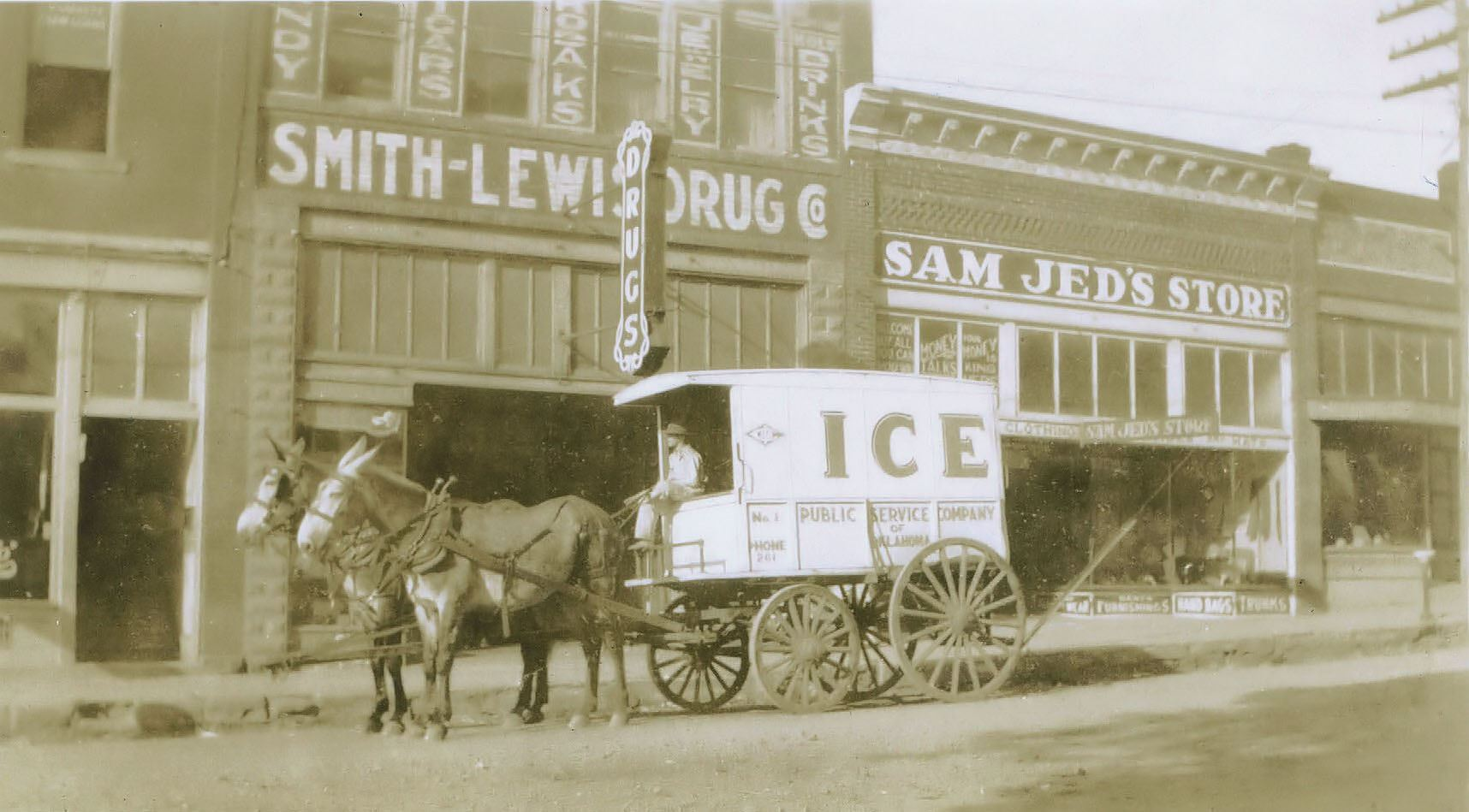 Smith-Lewis Drug Store, Sam Jed's Dry Goods & PSO